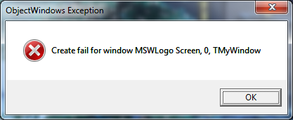 objectwindows-exception